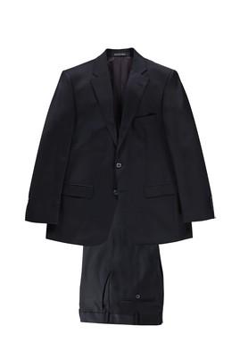 Erkek Giyim - Lacivert 52 Beden Ekose Takım Elbise