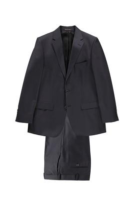 Erkek Giyim - Antrasit 56 Beden Ekose Takım Elbise