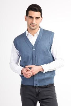 Erkek Giyim - Lacivert L Beden Klasik Slim Fit Yelek
