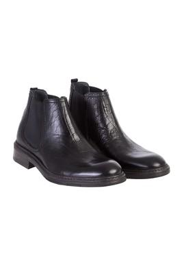 Erkek Giyim - Siyah 44 Beden Kauçuk Taban Deri Bot