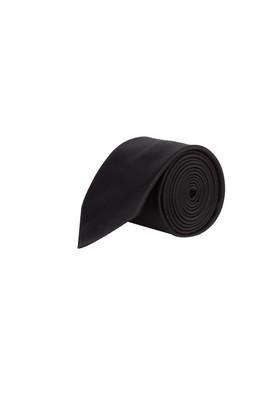 Erkek Giyim - Siyah 70 Beden Düz Saten Kravat