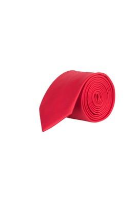 Erkek Giyim - Kırmızı 70 Beden Düz Saten Kravat