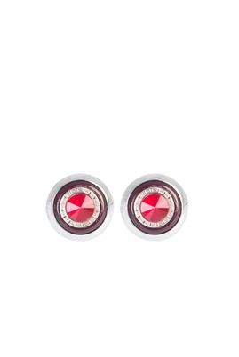 Erkek Giyim - Kırmızı STD Beden Taşlı Kol Düğmesi