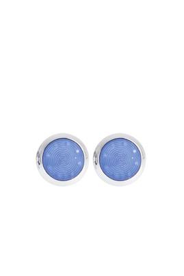 Erkek Giyim - Mavi STD Beden Desenli Kol Düğmesi