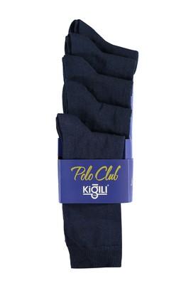 Erkek Giyim - Lacivert 42 Beden 5'li Düz Çorap