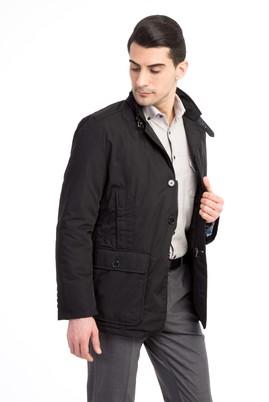 Erkek Giyim - Siyah 54 Beden Mono Yaka Kaban
