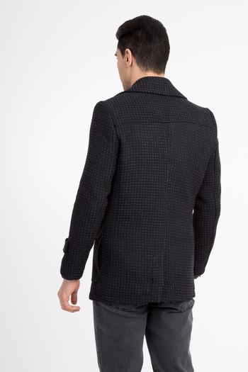Erkek Giyim - Yünlü Kruvaze Kaban