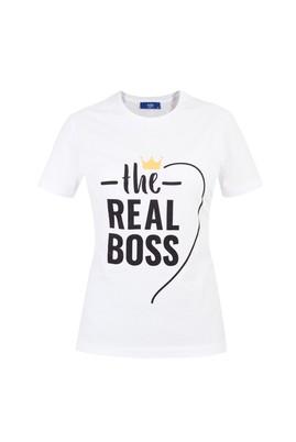 Erkek Giyim - Beyaz XL Beden Sevgililer Günü Tişört (Kadın)