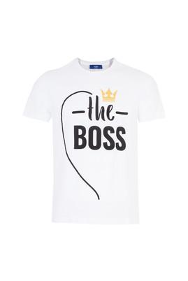 Erkek Giyim - Beyaz L Beden Sevgililer Günü Tişört (Erkek)