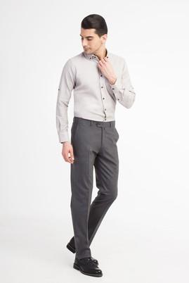 Erkek Giyim - Füme Gri 46 Beden Klasik Pantolon