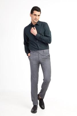 Erkek Giyim - Orta füme 50 Beden Slim Fit Kuşgözü Pantolon