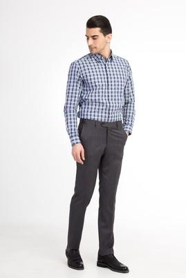 Erkek Giyim - Füme Gri 56 Beden Klasik Kuşgözü Pantolon