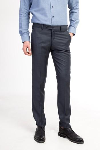 Erkek Giyim - Slim Fit Ekose Pantolon