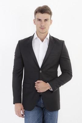 Erkek Giyim - Siyah 50 Beden Slim Fit Blazer Ceket