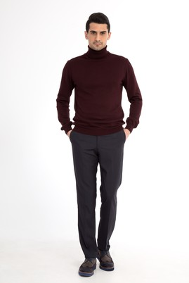 Erkek Giyim - Antrasit 52 Beden Klasik Pantolon