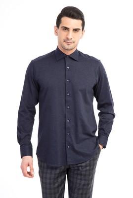Erkek Giyim - Antrasit XXL Beden Uzun Kol Kırışmayan Örme Gömlek