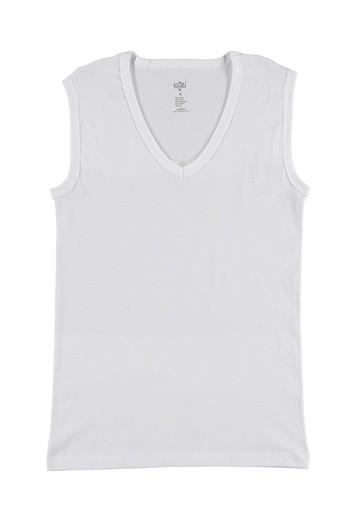 Erkek Giyim - 2'li V Yaka Kolsuz Atlet