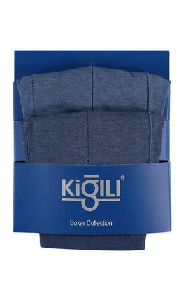 Erkek Giyim - Mavi L Beden 2'li Süprem Boxer