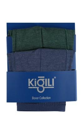 Erkek Giyim - Açık Mavi XXL Beden 2'li Süprem Boxer