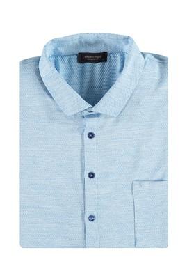 Erkek Giyim - Turkuaz 5X Beden King Size İtalyan Yaka Tişört
