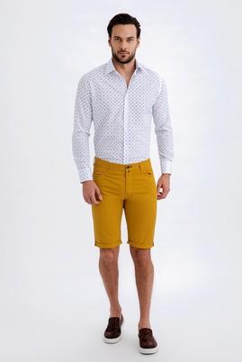 Erkek Giyim - Sarı 48 Beden Slim Fit Spor Bermuda Şort