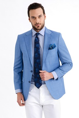 Erkek Giyim - Açık Mavi 56 Beden Klasik Ceket