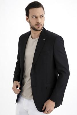 Erkek Giyim - Siyah 52 Beden Bambu Ceket