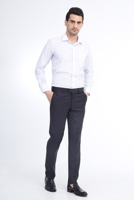 Erkek Giyim - Antrasit 52 Beden Slim Fit Klasik Pantolon