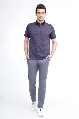 Erkek Giyim - Orta füme 50 Beden Slim Fit Saten Spor Pantolon