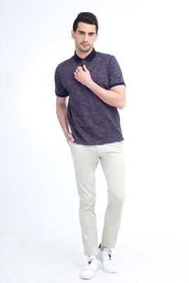 Erkek Giyim - Krem 48 Beden Saten Spor Pantolon