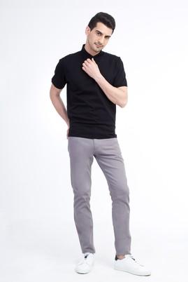 Erkek Giyim - Orta füme 54 Beden Slim Fit Spor Pantolon