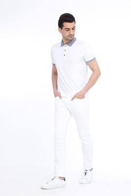 Erkek Giyim - Beyaz 52 Beden Slim Fit Spor Pantolon