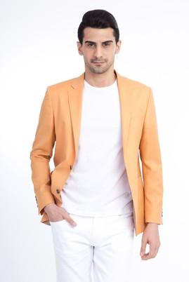 Erkek Giyim - Sarı 48 Beden Comfort Ceket