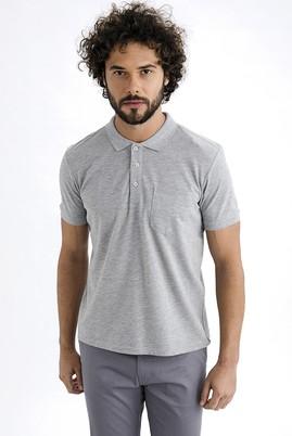 Erkek Giyim - Orta füme XL Beden Regular Fit Polo Yaka Tişört