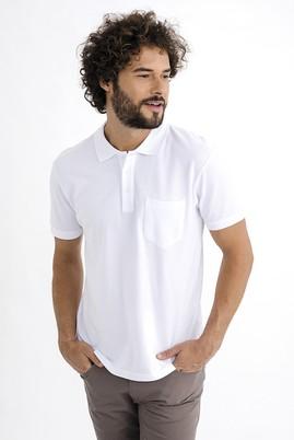 Erkek Giyim - Beyaz 3X Beden Regular Fit Polo Yaka Tişört