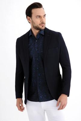 Erkek Giyim - Lacivert 58 Beden Örme Ceket