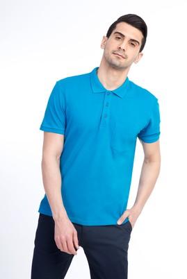 Erkek Giyim - Petrol 3X Beden Regular Fit Polo Yaka Tişört