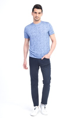 Erkek Giyim - Lacivert 52 Beden Slim Fit Spor Pantolon