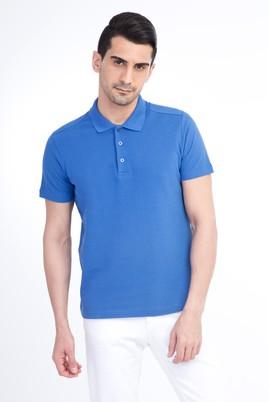 Erkek Giyim - Mavi XL Beden Polo Yaka Slim Fit Tişört