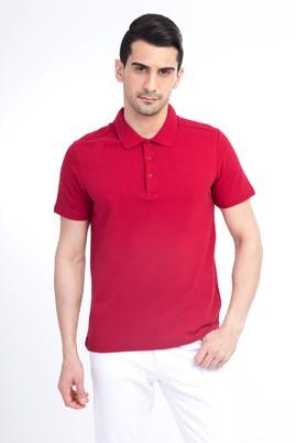 Erkek Giyim - Bordo S Beden Polo Yaka Slim Fit Tişört