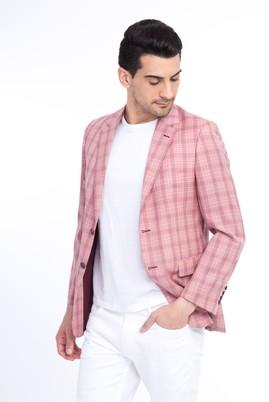 Erkek Giyim - KİREMİT 50 Beden Ekose Klasik Ceket