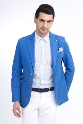 Erkek Giyim - Turkuaz 50 Beden Astarsız Spor Ceket