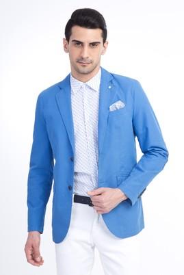 Erkek Giyim - Turkuaz 46 Beden Astarsız Oxford Ceket