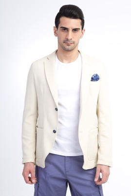Erkek Giyim - Bej 50 Beden Örme Ceket