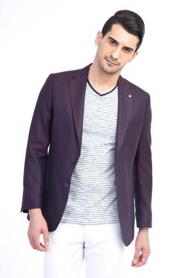 Erkek Giyim - Bordo 60 Beden Bambu Ceket