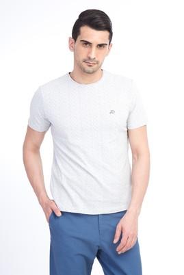 Erkek Giyim - Kum 3X Beden Bisiklet Yaka Çizgili Slim Fit Tişört