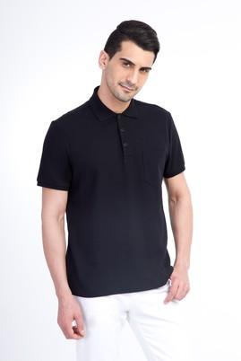 Erkek Giyim - Siyah L Beden Regular Fit Polo Yaka Tişört