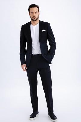 Erkek Giyim - Lacivert 48 Beden Klasik Takım Elbise