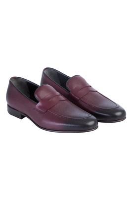 Erkek Giyim - Bordo 44 Beden Casual Deri Ayakkabı