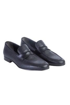 Erkek Giyim - Siyah 44 Beden Casual Deri Ayakkabı